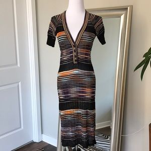 M Missoni knit dress! Black purple size 4/6
